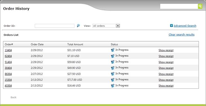 ustore online help viewing orders history rh xmpie com order history ebay order history report amazon