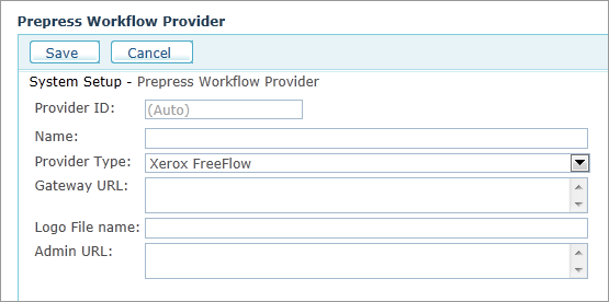 uStore Online Help - Setting Up Xerox FreeFlow Core from Within uStore