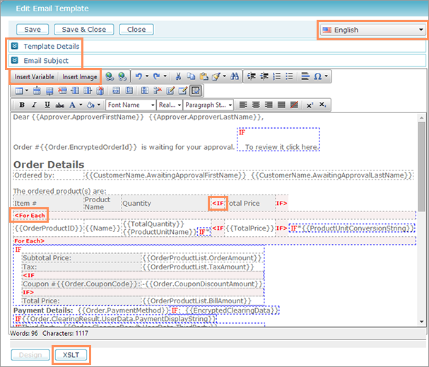 Email Template Editor. marketing with microsoft dynamics crm ...