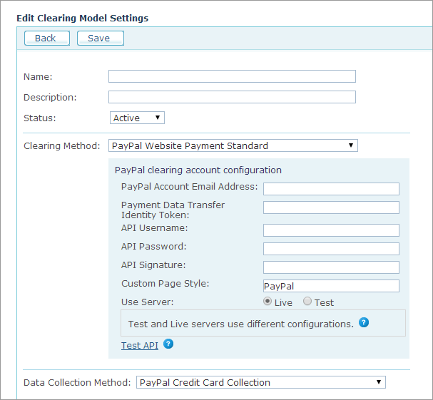 uStore Online Help - Configuring PayPal Web Site Payment
