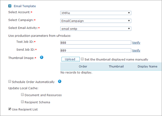 UStore Online Help Setting Up Email Document Templates - Set up email template