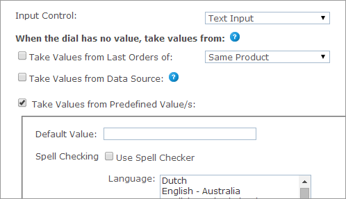 uStore Online Help - Text Input and Multiline Text Input