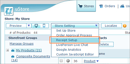 ustore online help designing a new receipt template