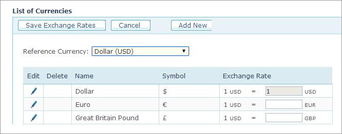 U Online Help Defining Currencies