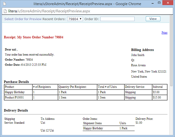 uStore Online Help - Designing a New Receipt Template