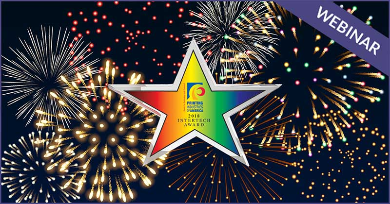 InterTech star logo on firework background