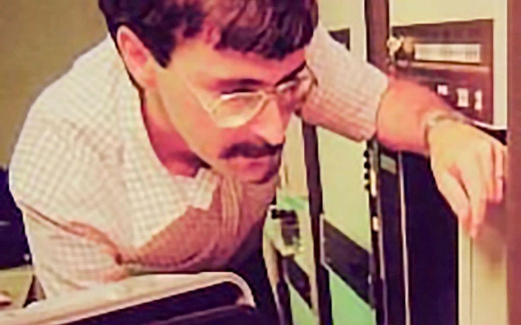 Aizikowitz in Scitex laboratorie