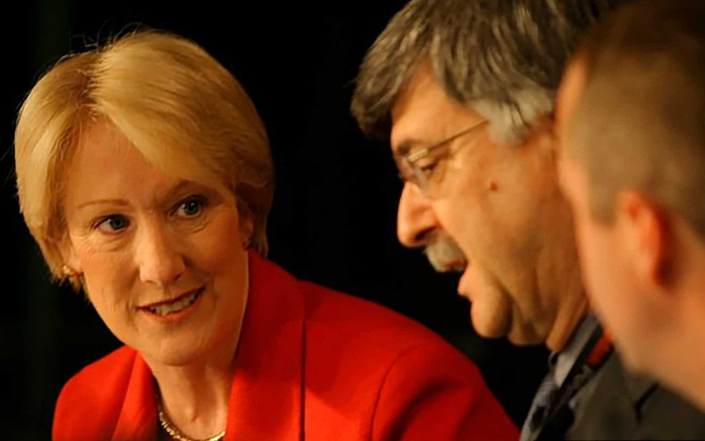 Aizikowitz in 2004, with Anne Mulcahy