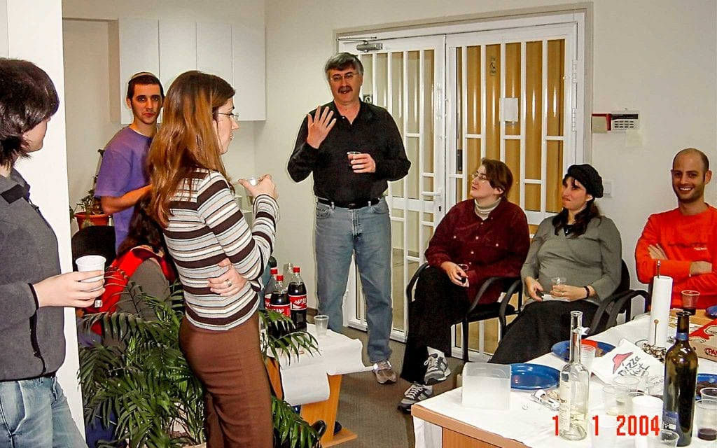 Aizikowitz and the XMPie team in 2004